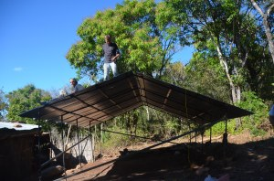 The pre-fab roof