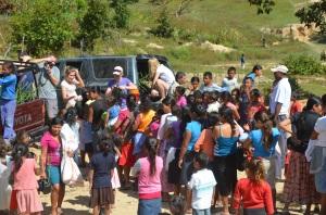 Hope Lives Apparel Food Drop in El Rosario