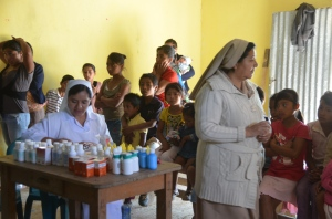 Medical Clinic in El Salitrillo.  Over 100 men, women and children received care!