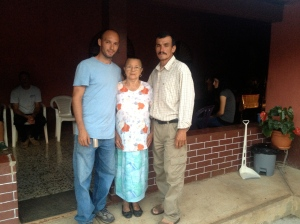 Fernando, Sr Chico and Grandma after Uncle Teo's funeral.