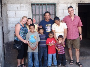 Lorraine and Reinaldo visiting with Mynor's family