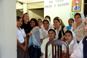 Me and Concepcion having a laugh last year with some of the the other Hermanas