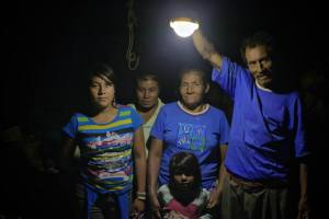 Don Viviano and family enjoying their solar light!