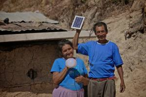 In 3 months Don Viviano has been able to buy food and help send his daughter to school with what he has saved on candles and phone charging!