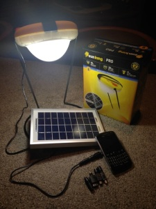 The SunKing Pro 2 Lamp and charger system