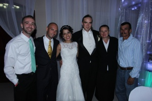 Fernando and his parents and our friend from Monjas Zack.
